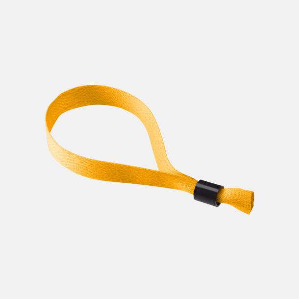 Orange Festivalarmband i polyester med reklamtryck