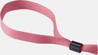Rosa Festivalarmband i polyester med reklamtryck