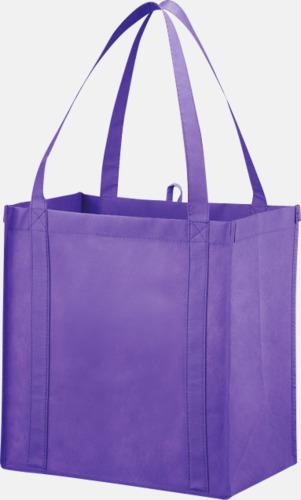 Lavendel Stora non woven-kassar i många färger med reklamtryck