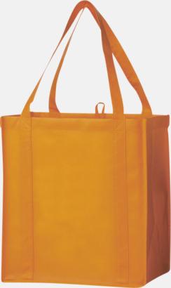 Orange Stora non woven-kassar i många färger med reklamtryck