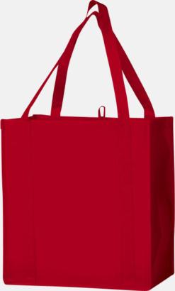 Röd Stora non woven-kassar i många färger med reklamtryck