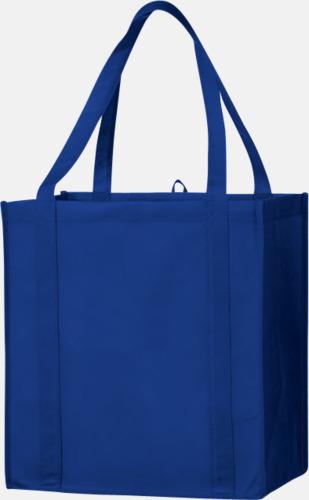 Blå Stora non woven-kassar i många färger med reklamtryck