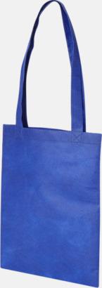 Blå Non woven-kassar i mindre format med reklamtryck