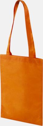 Orange Non woven-kassar i mindre format med reklamtryck