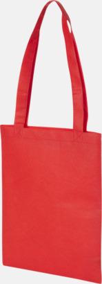 Röd Non woven-kassar i mindre format med reklamtryck