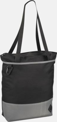 Svart / Grå Båtformade väskor med reklamtryck