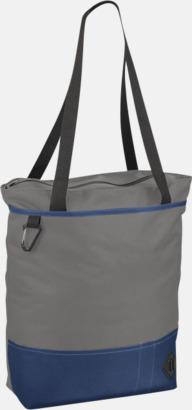 Grå / Blå Båtformade väskor med reklamtryck