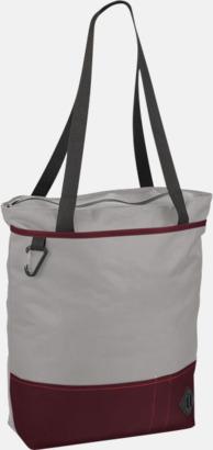 Grå/Röd Båtformade väskor med reklamtryck