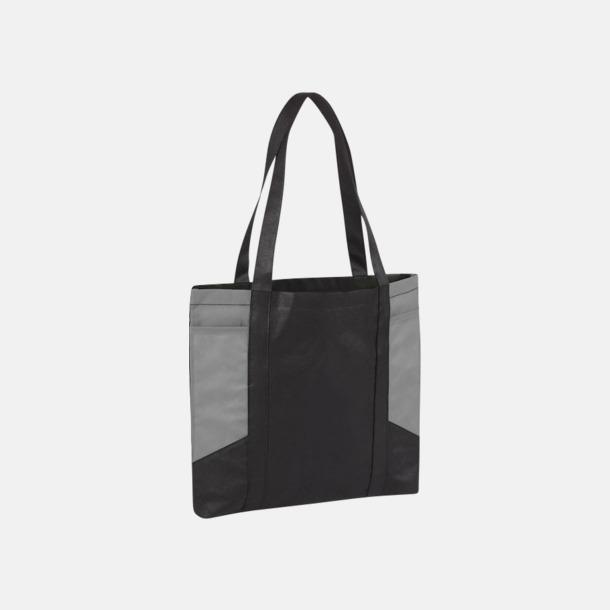 Svart/Grå Väskor i PP-material med reklamtryck