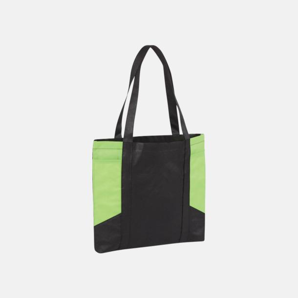 Svart/Limegrön Väskor i PP-material med reklamtryck