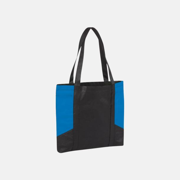 Svart/Processblå Väskor i PP-material med reklamtryck
