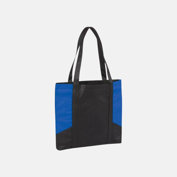 Svart/Royal Väskor i PP-material med reklamtryck