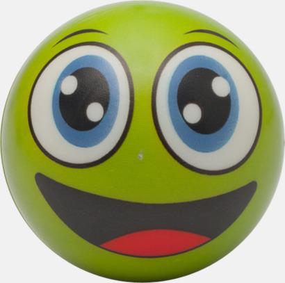 Grön Glada stressbollar med reklamtryck