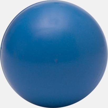 Blå (baksida) Glada stressbollar med reklamtryck