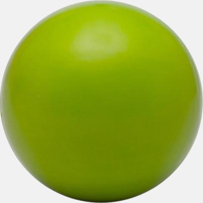 Grön (baksida) Glada stressbollar med reklamtryck