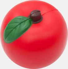 Äppelformade stressbollar med reklamtryck