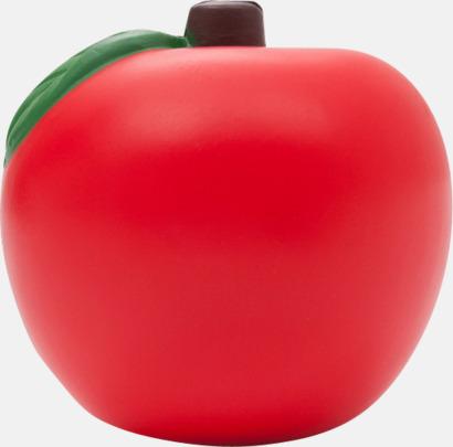 Röd Äppelformade stressbollar med reklamtryck