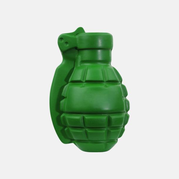Grön Granatformade stressbollar med eget tryck