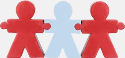 Röd / Vit Girlangformade figurer som är stressbollar med reklamtryck
