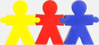 Gul/Röd/Blå Girlangformade figurer som är stressbollar med reklamtryck
