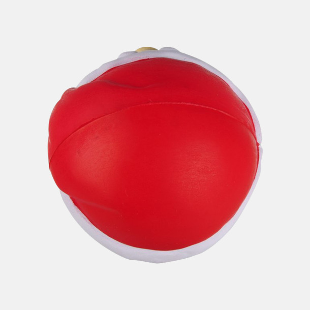 Baksida Tomten som stressboll med reklamtryck
