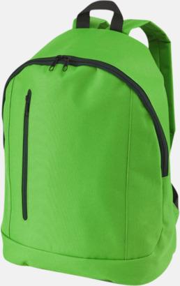 Klargrön Läckra, billiga ryggsäckar med reklamtryck
