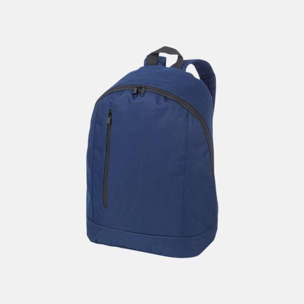 Marinblå Läckra, billiga ryggsäckar med reklamtryck