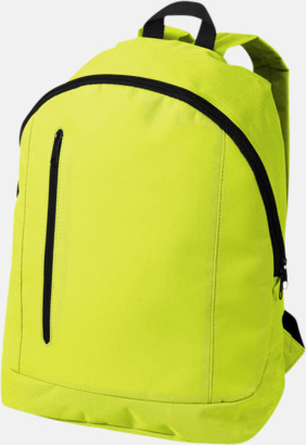 Neongul Läckra, billiga ryggsäckar med reklamtryck