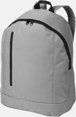 Grå Läckra, billiga ryggsäckar med reklamtryck