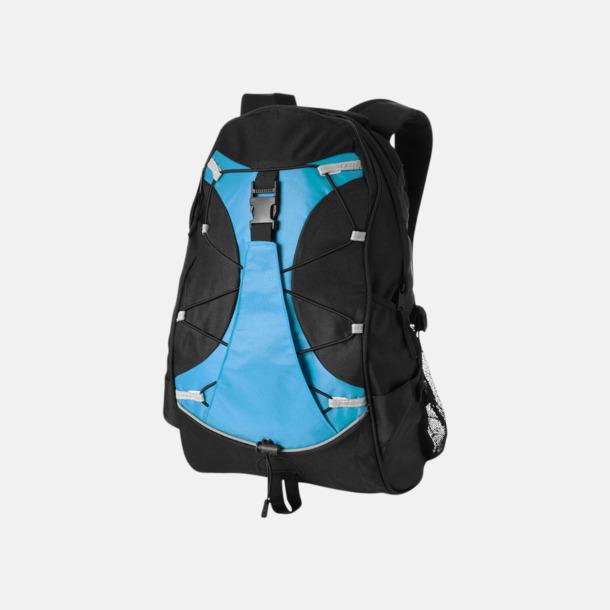 Svart/Aqua Utflyktsryggsäckar med reklamtryck