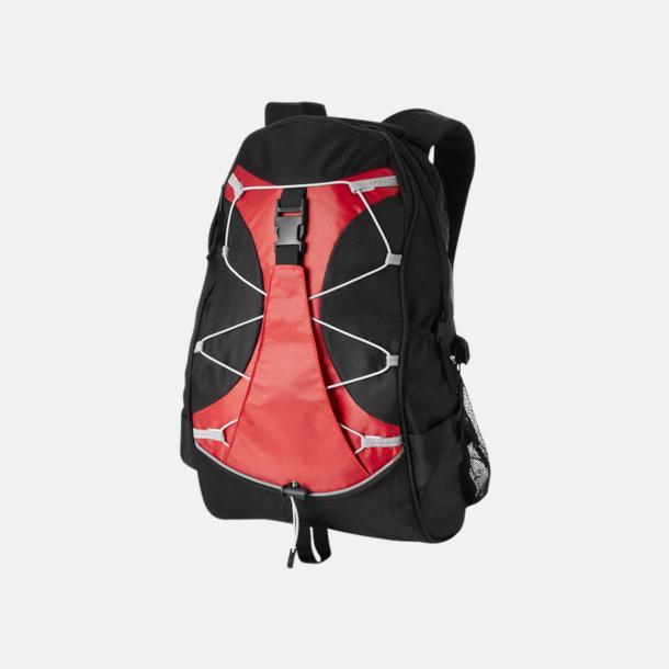 Svart / Röd Utflyktsryggsäckar med reklamtryck