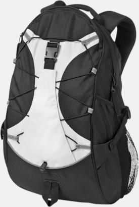 Svart / Vit Utflyktsryggsäckar med reklamtryck