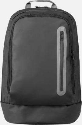"""15,4"""" svargrå ryggsäckar med reklamtryck"""