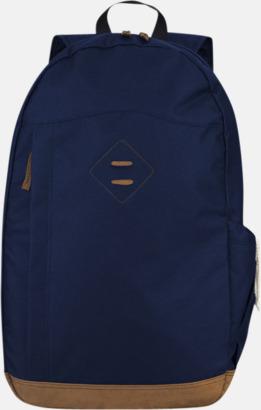 Marinblå Stiliga laptopryggsäckar från Slazenger med reklamtryck