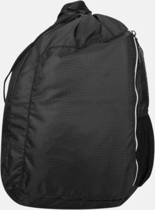 Svart Monostrap ryggsäckar med eget tryck
