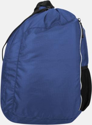 Blå Monostrap ryggsäckar med eget tryck