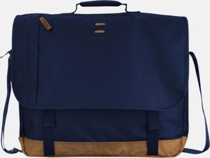 """Marinblå 17"""" datoraxelväska från Slazenger med reklamtryck"""
