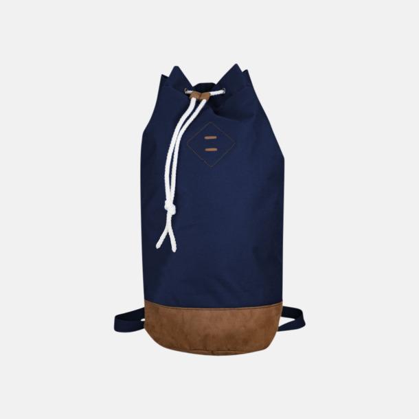 Marinblå Seglarväska & ryggsäck med reklamtryck