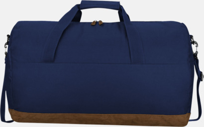 Marinblå Duffelväskor från Slazenger med reklamtryck