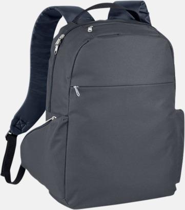 """Charcoal 15,6"""" laptopryggsäckar med reklamtryck"""