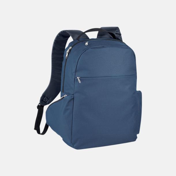 """Marinblå 15,6"""" laptopryggsäckar med reklamtryck"""