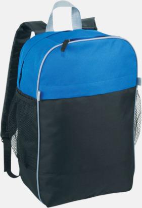 Blå / Svart Prisvärda laptopryggsäckar med reklamtryck