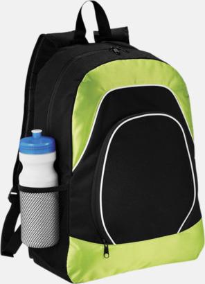 Svart / Limegrön Ryggsäckar för surfplattor - med reklamtryck