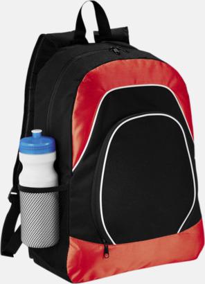 Svart / Röd Ryggsäckar för surfplattor - med reklamtryck