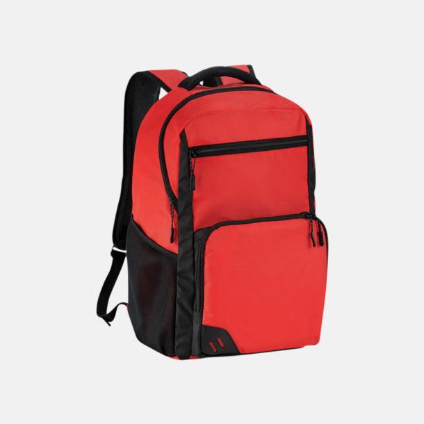 """Röd Ryggsäckar med 15,6"""" laptopfack - med reklamtryck"""