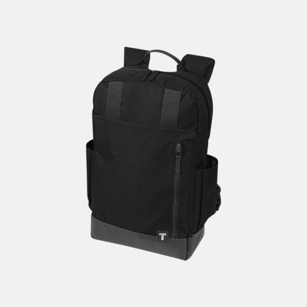 """Svart 15,6"""" datorryggsäck från Tranzip med reklamtryck"""