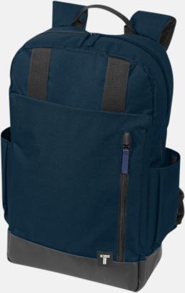 """Marinblå 15,6"""" datorryggsäck från Tranzip med reklamtryck"""