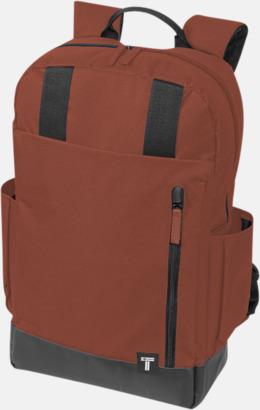 """Röd 15,6"""" datorryggsäck från Tranzip med reklamtryck"""