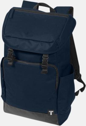 Marinblå Datorryggsäckar från Tranzip med reklamtryck