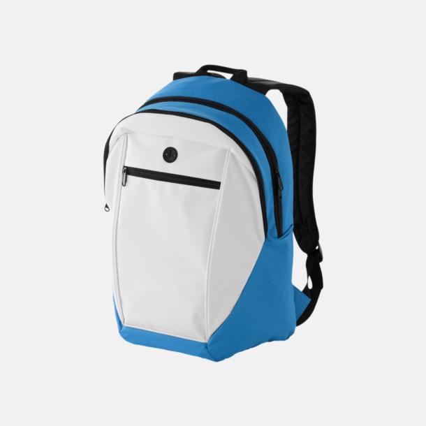 Vit/Aqua Ryggsäckar med reklamtryck eller -brodyr